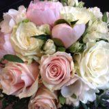 Fleuriste mariage Bordeaux Bouquet de mariée roses et pivoines Réalisation Carré Roses Artisan Fleuriste Bordeaux Bègles Floirac