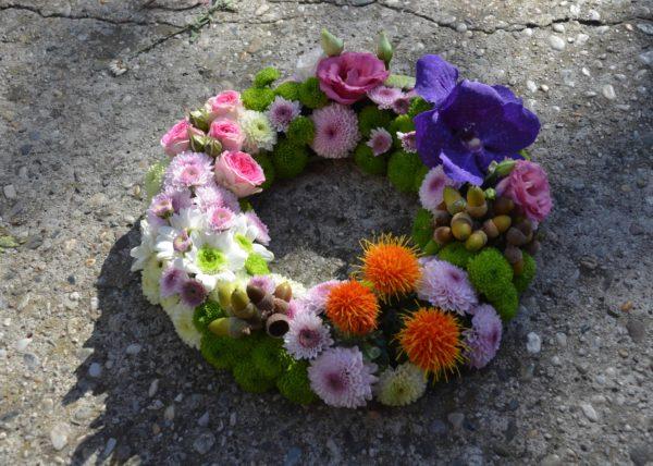 couronne deuil fleur
