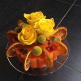 Gâteau  floral Carré Roses à Bordeaux