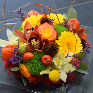 Composition Carré Roses automne
