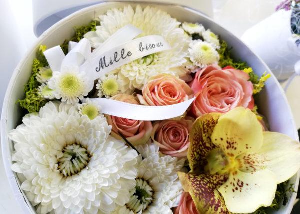 coffret cadeau fleurs bordeaux