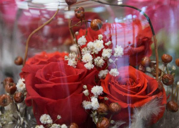 grande cloche rose éternelle fleuriste bègles