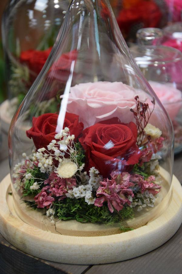 rose eternelle fleuriste bordeaux