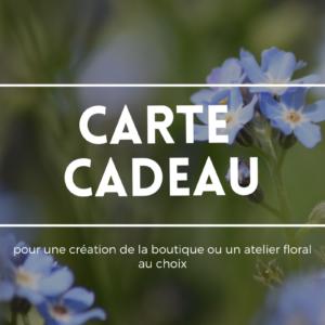 carte cadeau artisan fleuriste bègles