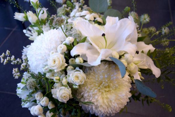 bouquet rond mariage blanc bègles