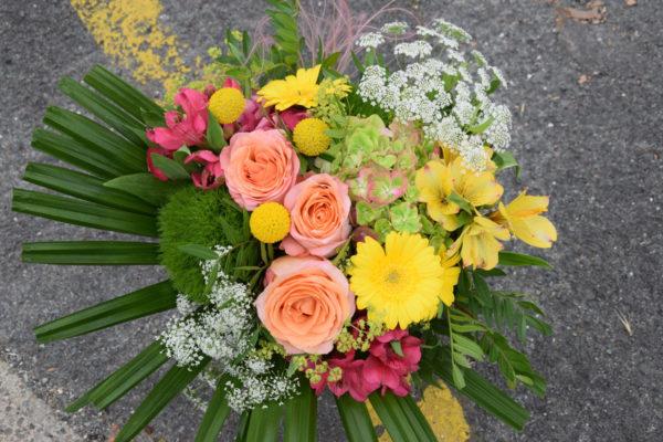 bouquet rond composition bègles