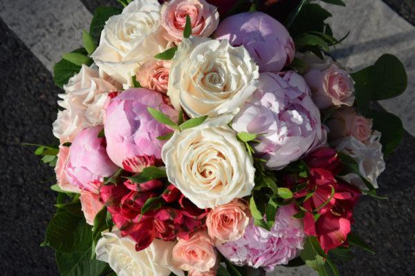 bouquet rond pastel artisan bègles