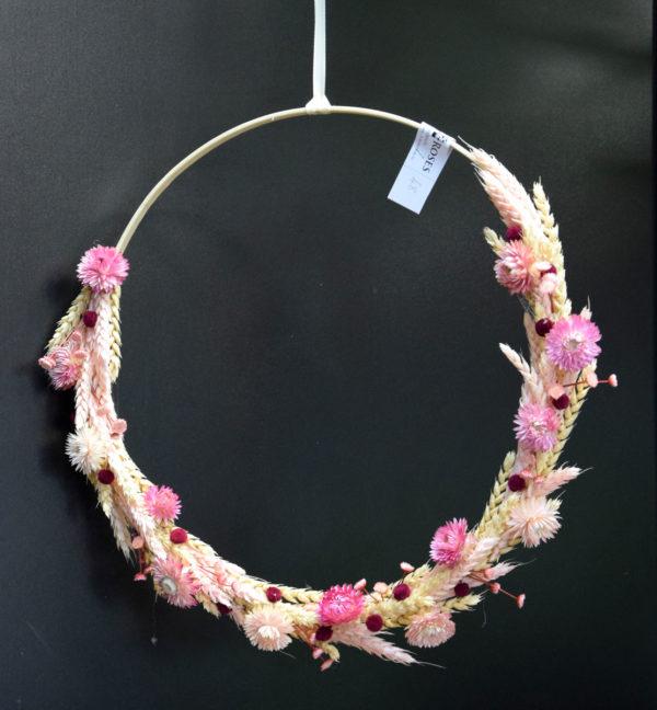 anneau fleur séchée rose