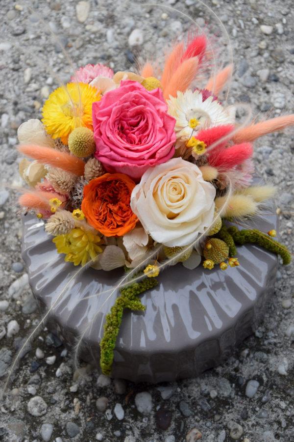 bouquet vase compo roses