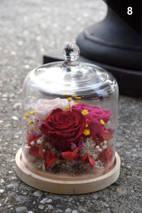 cloche rose éternelle artisan déco