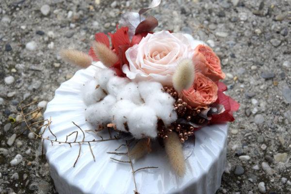 bouquet épuré rose fleuriste bègles