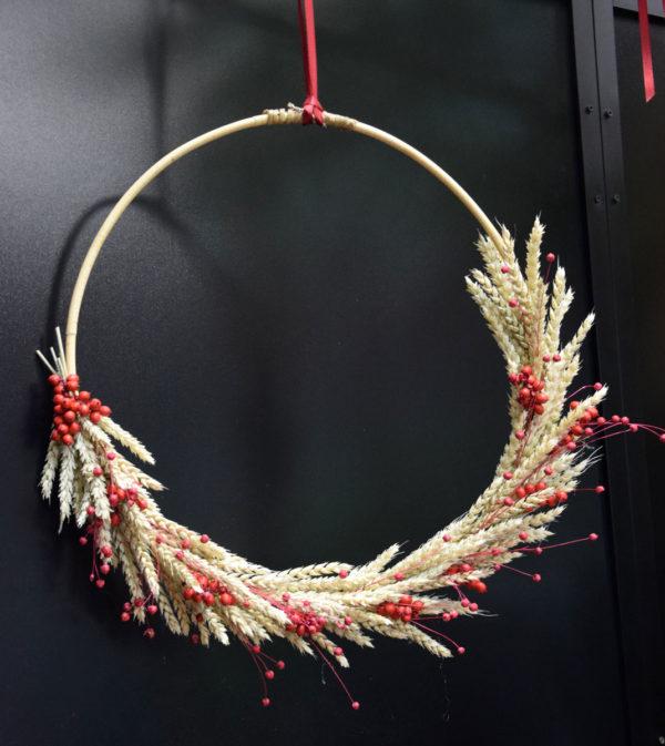 couronne baie rouge fleuriste