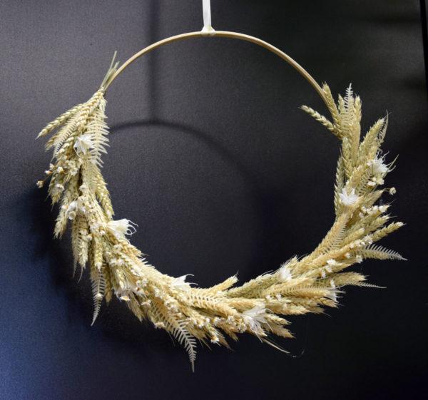 couronne séchée nude fleuriste bordeaux