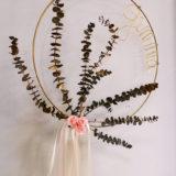 couronne fleurs sechées bordeaux cadeau naissance