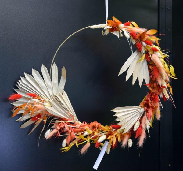 couronne automne fleuriste bègles