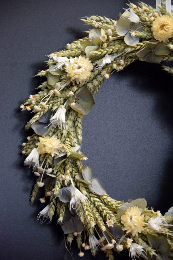 couronne fleur séchée