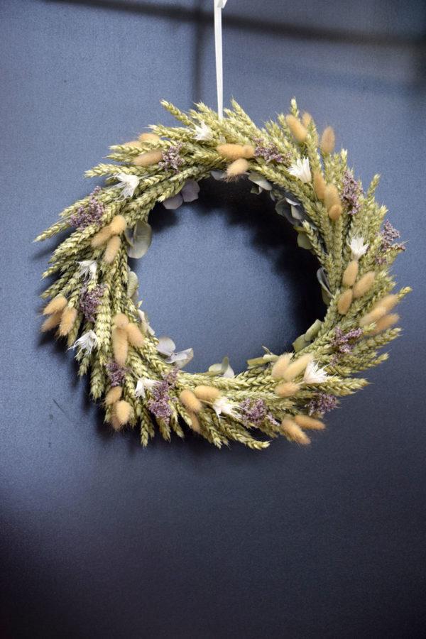couronne champêtre fleuriste