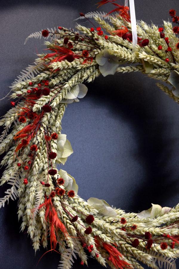 couronne séchée rouge