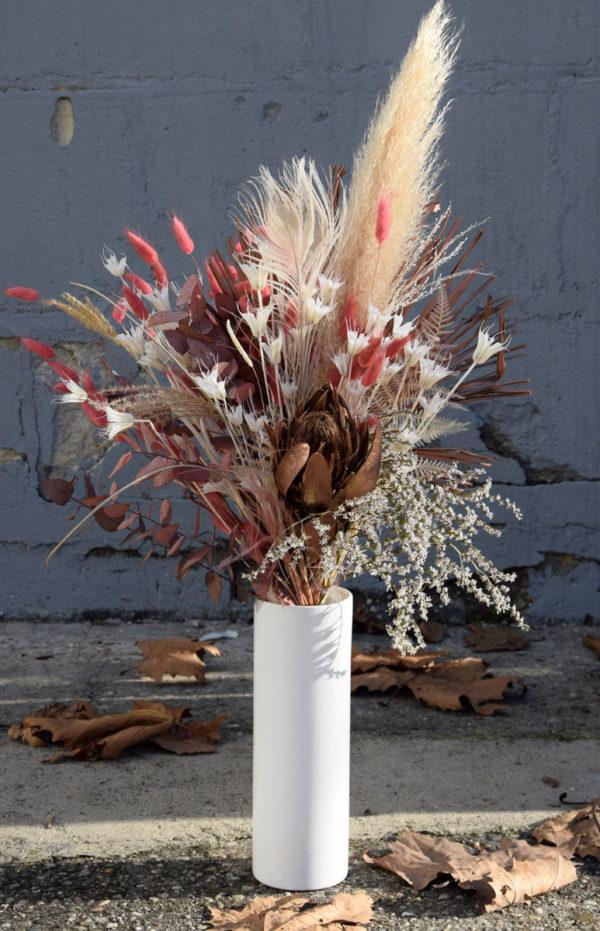 bouquet fleurs séchées pampa vase