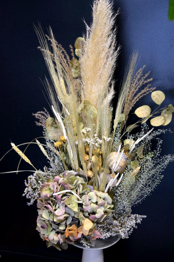 bouquet fleurs séchées nude fleuriste