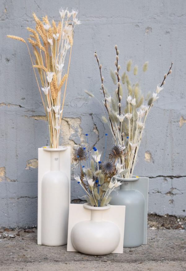 bouquet fleurs séchées vase
