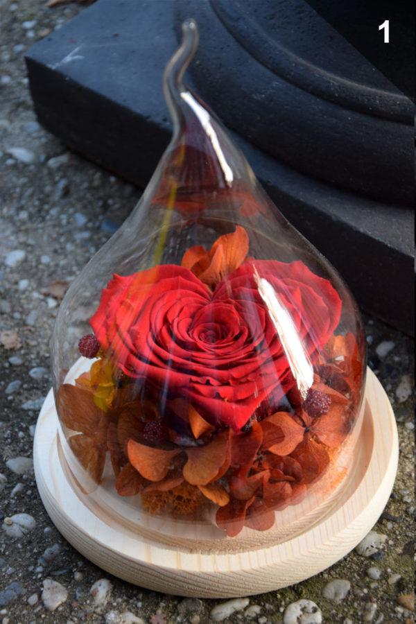 cloche rose éternelle coeur rouge